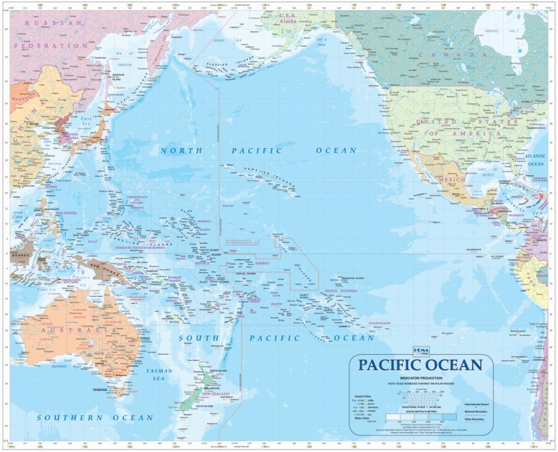 pacificoceanmap3 | Défense et Géopolitique Pacific Ocean Map Asia