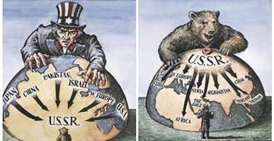 Cold War definition : USA vs the USSR